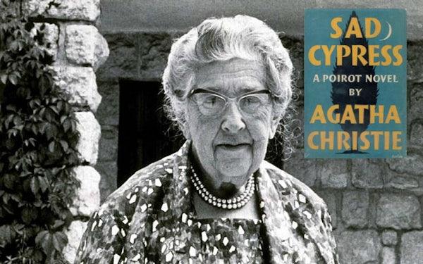 agatha christie with sad cypress
